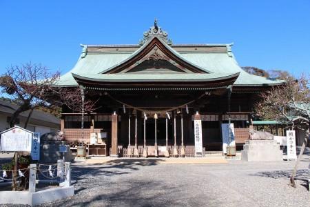 矢奈比賣神社社殿