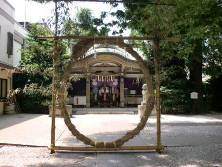 大鳥神社社殿芽の輪