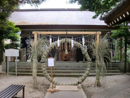 上神明天祖神社社殿芽の輪